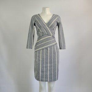 Maeve Navy & White Striped Dress Size S